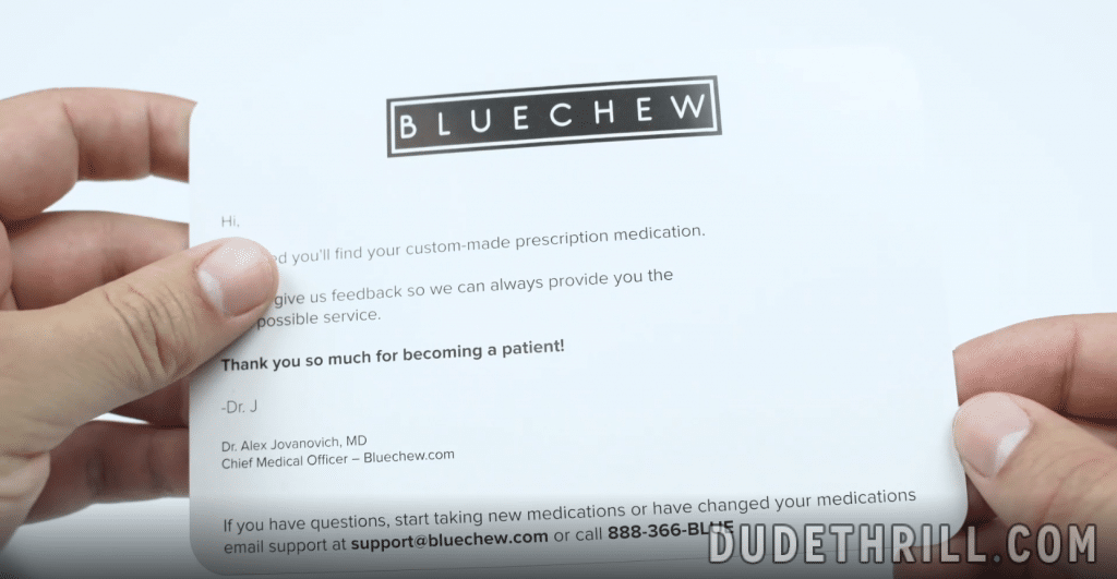 welcome note bluechew