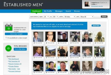 Established Men homepage