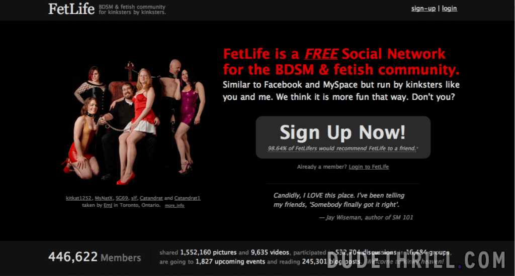 fetlife home