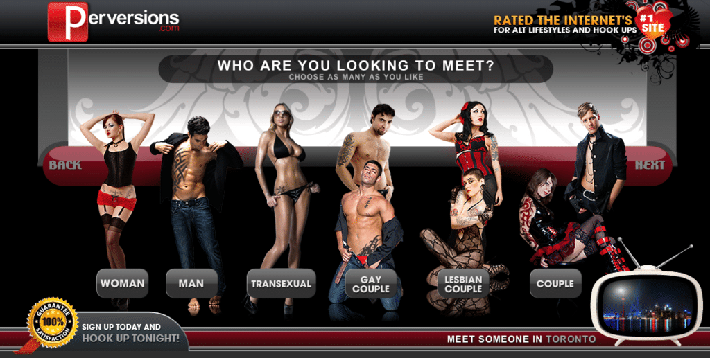 perversions.com homepage