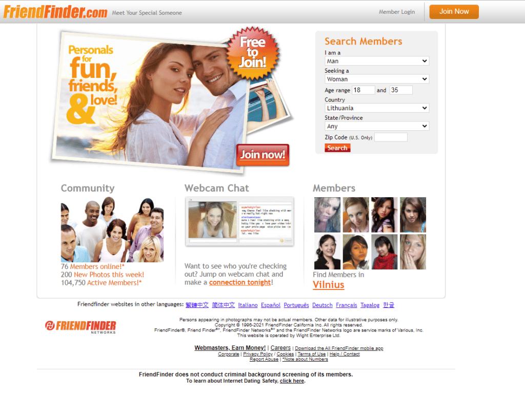 сайт Friendfinder