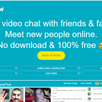 Revisión de FaceFlow y más de 12 sitios de video chat como Faceflow.com