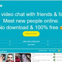 A FaceFlow áttekintése és a 12+ videocsevegési webhelyek, mint a Faceflow.com