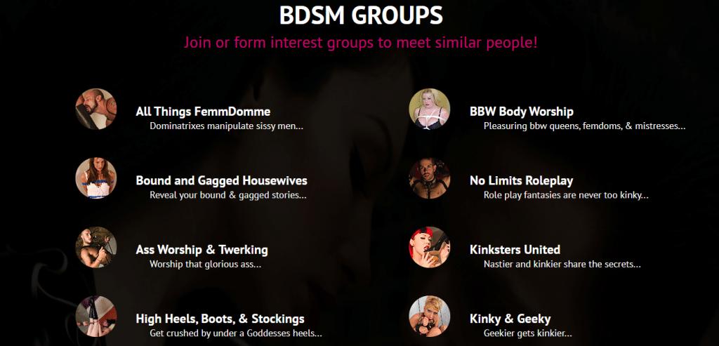 BDSM.com Groups