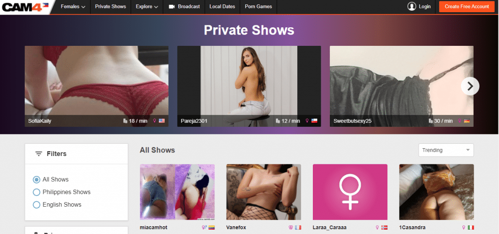 cam4 privata shower