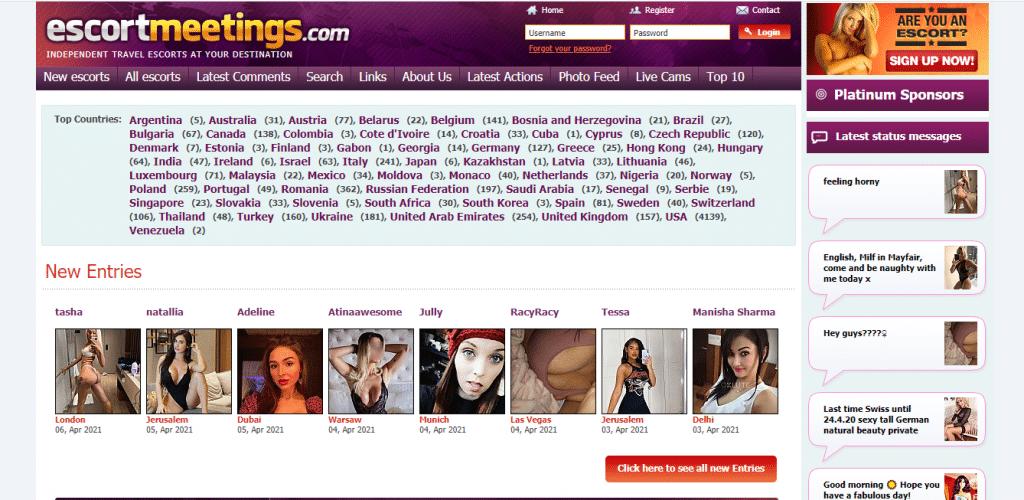 escortmeetings homepage
