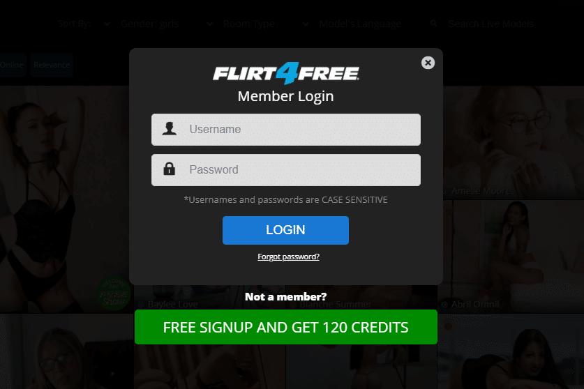 Inscription gratuite à Flirt4