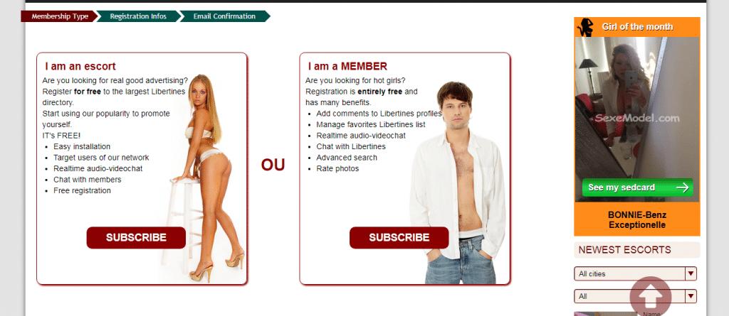 Sexemodel lidmaatschap