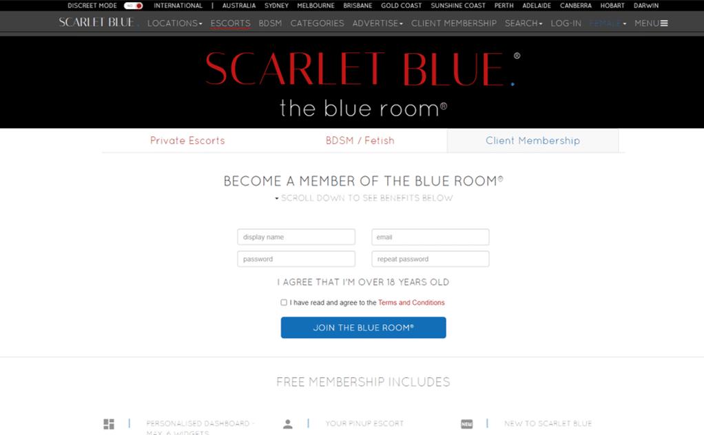 scarletblue blue room
