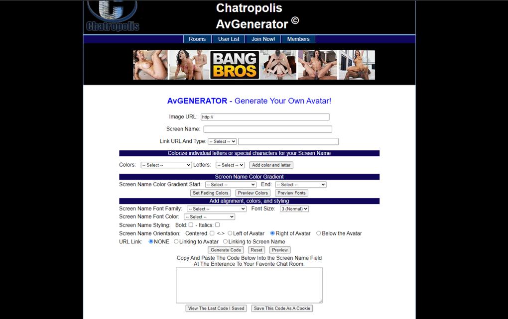 Chatropolis-Generator