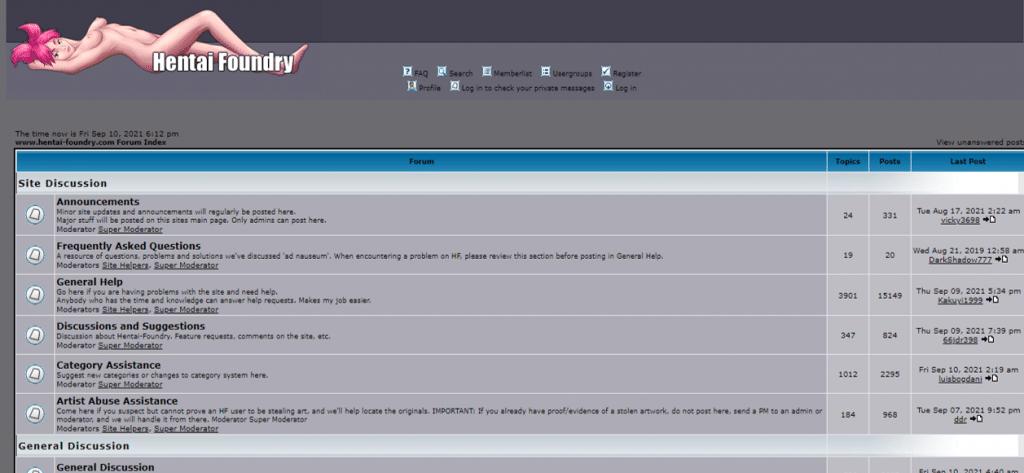 forums de fonderie hentai