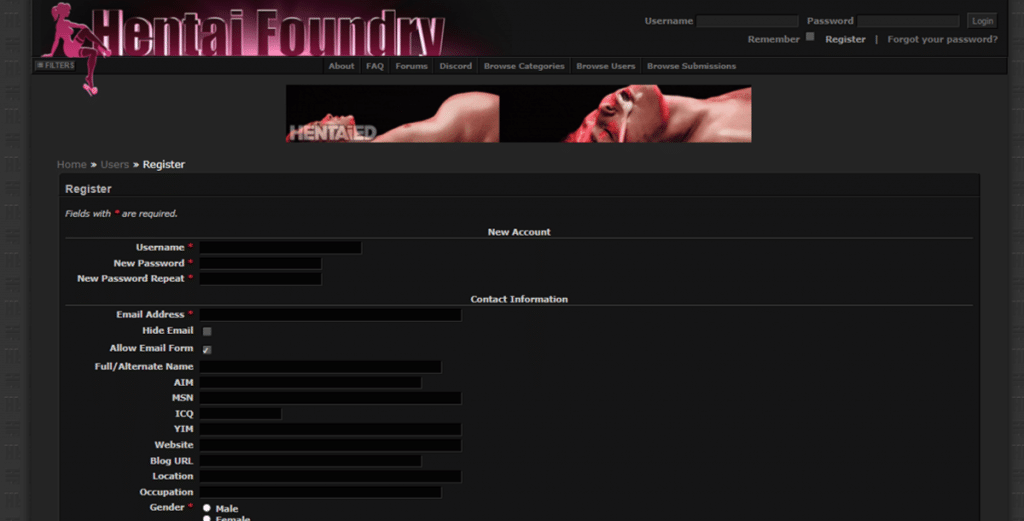 hentaifoundry rejoindre